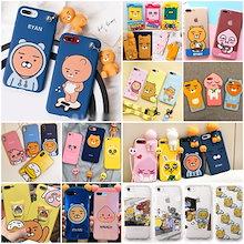 韓国カカオの友人ライアンの人形のペンダントケースKAKAO Friends iPhoneXケースiphone8 iphone8plusケースiphone7plusケースiphone6s plusケース