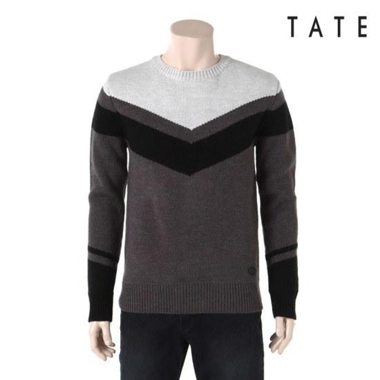 ・テイト・テイト男性パターン長い腕ニットKA4W0MSP070430 ニット/セーター/ニット/韓国ファッション