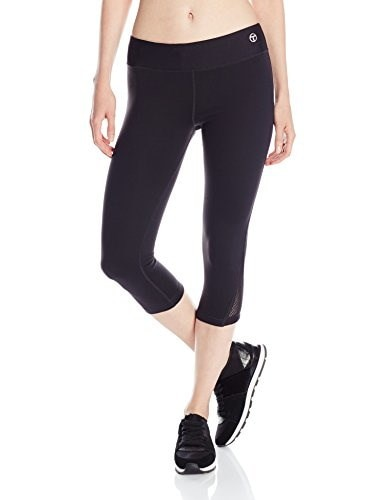 Trina Turk Recreation Womens Mid Length Leggings, Black, Medium
