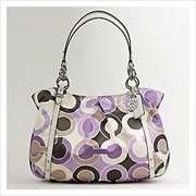 コーチ 16230 Lilac Multi  アウトライン オプアート プリント アレクサンドラ トートバッグ