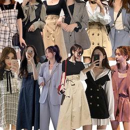 2021夏超激安 3枚+1枚 4枚+2枚 韓国ファッション新作着痩せ ブラウス+スカート/ズボン