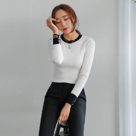 シーフォックスアビテボタンゴルジニット ニット/セーター/ニット/韓国ファッション