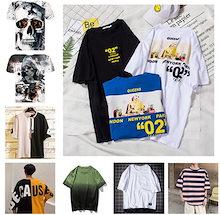 2019 新作  韓国ファッション メンズ  半袖 Tシャツ 流行 ト  人気商品 個性 シンプル  T19021304