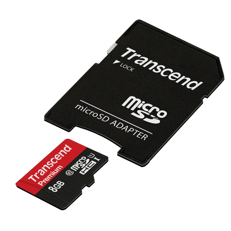 【正規国内販売代理店・ネコポス便送料無料】トランセンド [Transcend] 8GB microSDカードClass10 TS8GUSDU1 [8GB]