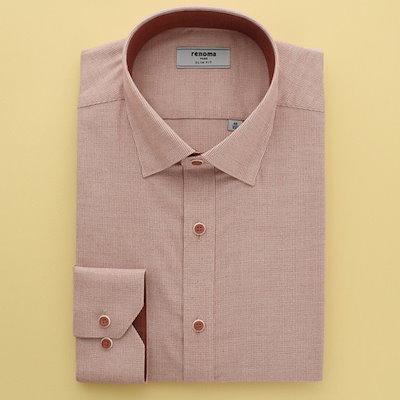 [AK公式ストア]【renoma shirts]スリムフィットポイント面起毛シャツRIFSL1-952 RD