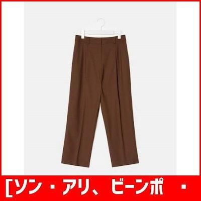 [ソン・アリ、ビーンポールレディース]ビーンポール・レディース・ブリックソリッドウールベキピッピンタック・パンツ(BF8821U05C) /パンツ/面パンツ