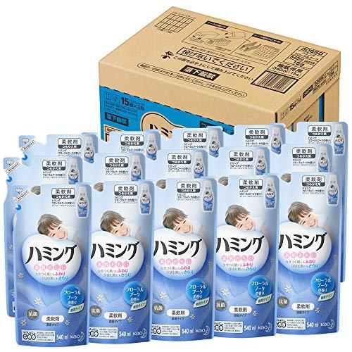 【ケース販売】ハミング 柔軟剤 フローラルブーケ 詰替用 540ml15個