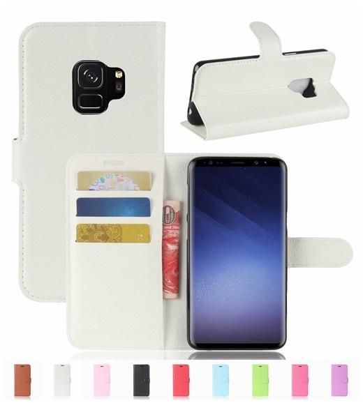 ギャラクシー Galaxy S9用レザーケース/カード収納付き/手帳型/ポケット付き/Galaxy S9財布型保護カバー/マグネット横開き/スタンドカバー2つ折り/落下防止【管理番号:I054】