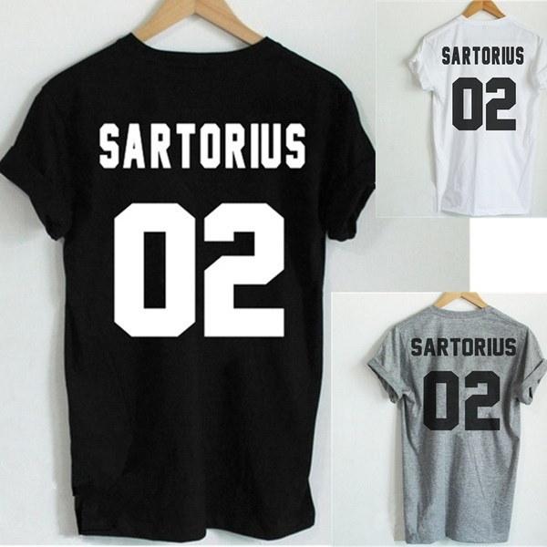 Jacob Sartorius TシャツSARTORIUS 02バックレタープリントレディースTシャツコットンカジュアルファニーTシャツZH
