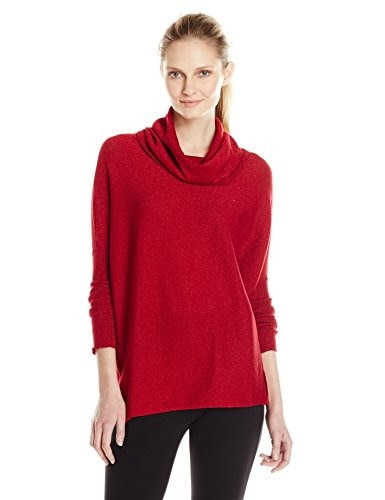 Catherine Catherine Malandrino Womens Maeve Sweater, Crimson, X-Small