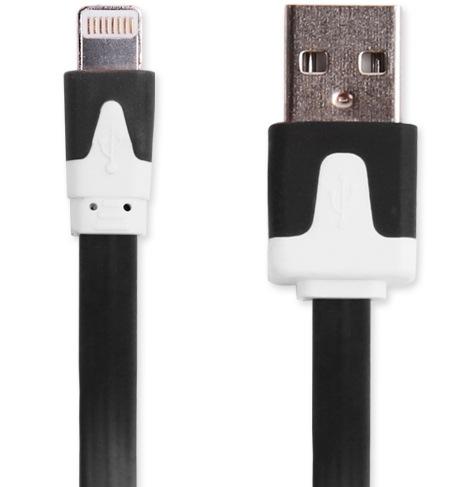 【頑丈なフラット/ブラック限定】iphone7 plus 充電ケーブル iphone8 iphone6s 充電器 iphone5s iphone5 ipad mini USBケーブル iphone