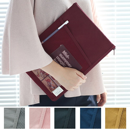 [Livework][SWEET MANGO] LIVEWORK Mesh Pocket File Pouch - 韓国バッグ ドキュメントバッグ A4 ファイルケース