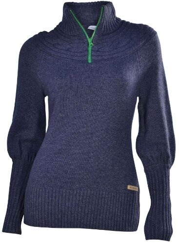 Columbia Womens She Pine for Alpine 1/2 Zip Sweater-Navy-Small