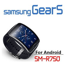 Samsung Galaxy Gear S SM-R750 Curved AMOLED Smart Watch Black Wearable Personal fitness monitor Genuine NEW