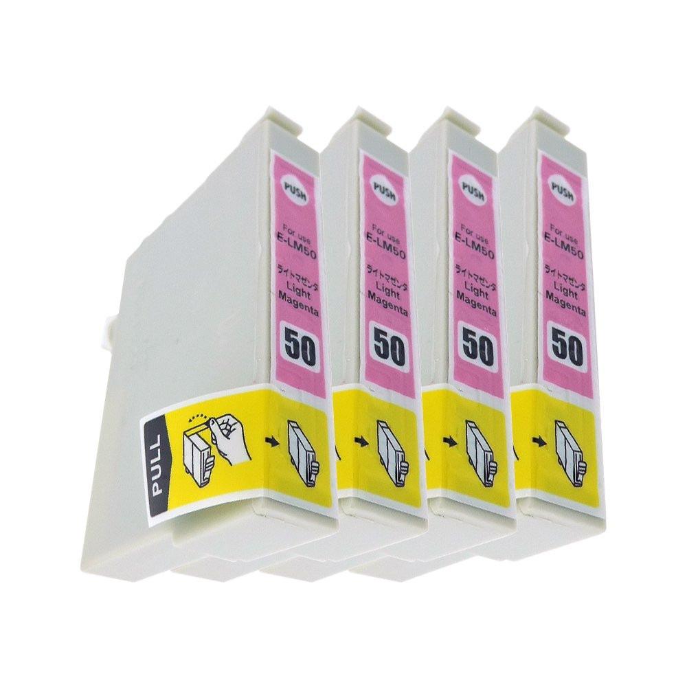 エプソン ICLM50 4本セット プリンター用互換インク EP社 ICチップ付 残量表示機能付