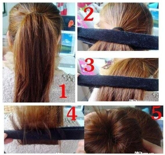 CA Hot 1Pcs Hairagami Hair Bun Updo Fold、ラップ&スナップスタイリングツール-N4