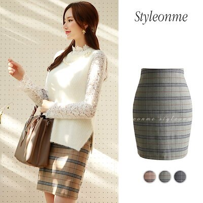 styleonme【Styleonme】♥スタイルオンミ♥韓国ファッション♥韓国通販♥タータンチェック柄 ミニスカート