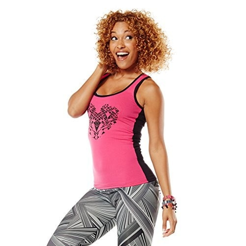 Zumba Fitness Womens Full of Heart Racerback Top, Berry, XX-Large