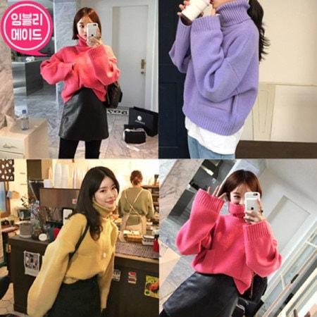 【Imvely]綿菓子ポケットニットkorean fashion style
