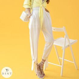 「DINT」 ★送料無料★P2275♥ストラップポイント・リネンパンツ♥セレブ系オフィススタイル♥韓国ファッションブランドDINTのオシャレなオフィススタイル提案!