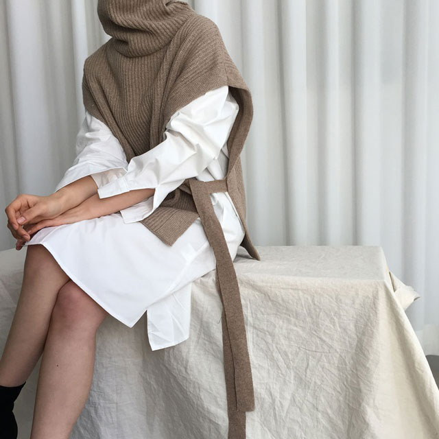 [ラルム】トゥルーポーラベスト3col korea fashion style