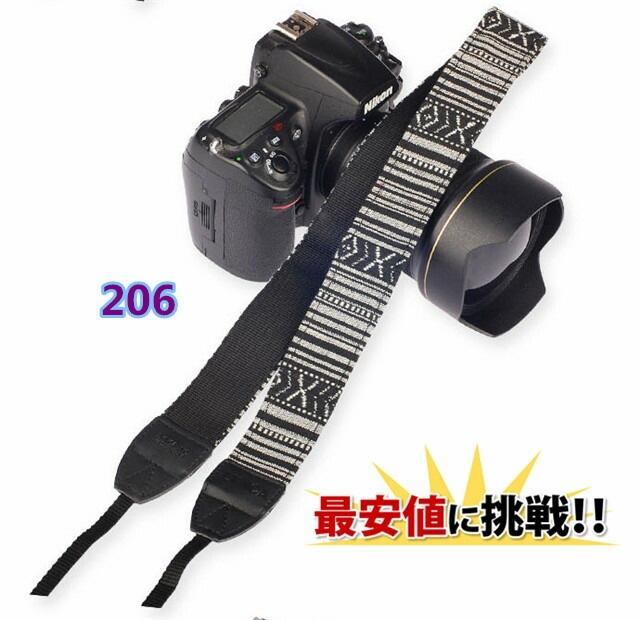 一眼レフ ミラーレス用 カメラネック ストラップ 206 Canon Nikon Sony leica olympus OM-D 用 おしゃれ カメラ ストラップ