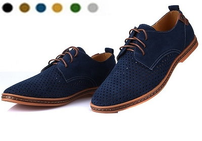 38 to 46 Large Size Leather Men s Shoes, Summer Cool Hole Breathable Shoes