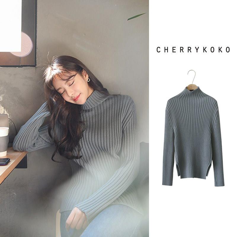[CHERRYKOKO]フィットタートルネックニット[秋冬新作][送料無料]made in korea✯韓国ファッション✯C711PRKN162