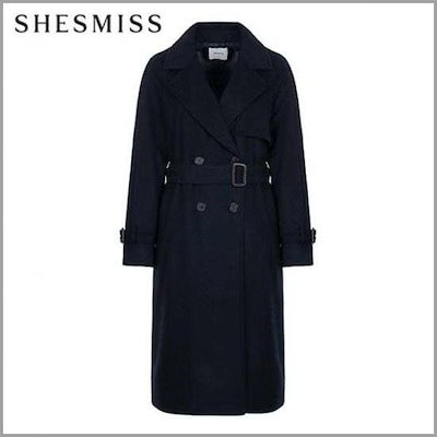 [シーズ・ミス][ハーフクラブ/SHES MISS]ウール・ブレンド・トレンチコートSWWHCI41160DN /トレンチコート/コート/韓国ファッション