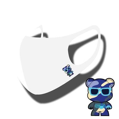 cnblue KUMA LOGO [HAPPYDOOR オリジナル] JIMIN MASK マスク[ STRETCH ANTIBACTERIAL 3D MASK ] 洗濯可能 HYOSUNG