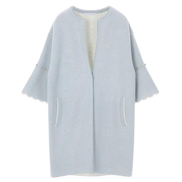 [韓国直送] 【オリーブデオリーブ] sleeve frill cardigan OK8SD711