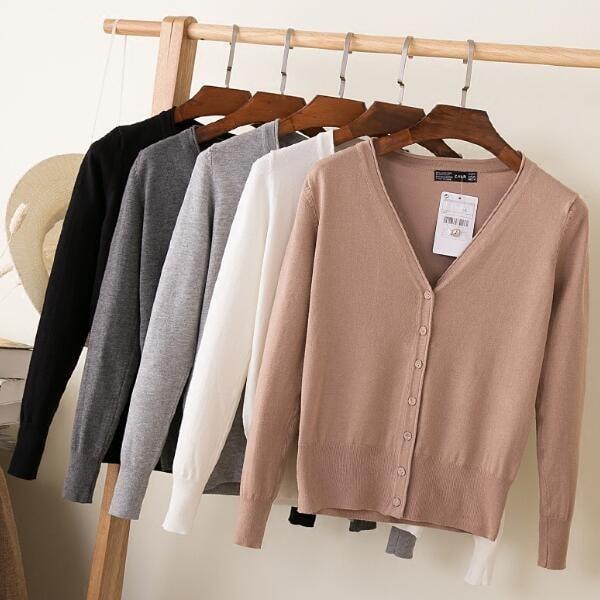 ニットカーディガン♡コート春秋にのゆったりセーターの外をかけて   韓国ファッショ  秋冬 短い