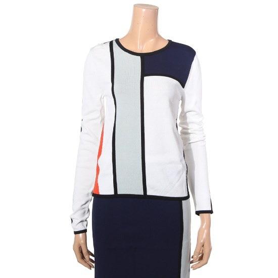 提示、ニューヨークテーピングラインのツーピースニートJ715NSKO40901 ニット/セーター/パターンニット/韓国ファッション
