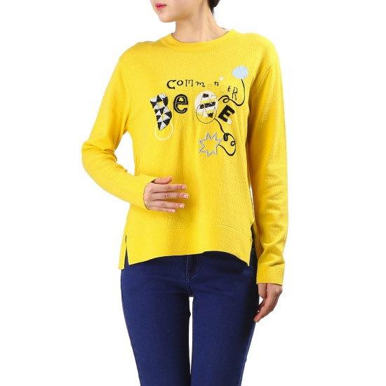 ベネトンスパンコールポイントニットプルオーバーBAKP51631 ニット/セーター/韓国ファッション