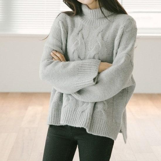 素敵ピッチラテKNIT ニット/セーター/タートルネック/ポーラーニット/韓国ファッション