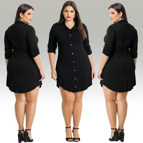 ファッション女性のシャツドレス大きなサイズの不規則なロングスリーブミニシャツドレス