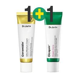 1+1 Dr.jart+ドクタージャルト シカペアクリーム+セラマイディンウルトラクリーム/ Cicapair + Ceramidin Ultra Cream/韓国コスメ/シカクリーム