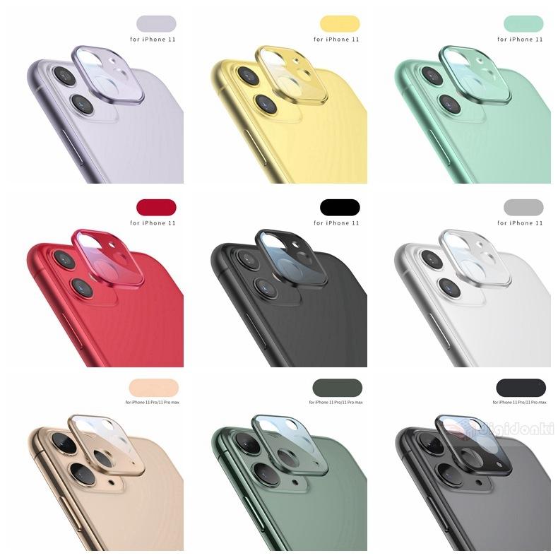 iPhone 12 mini Pro Max iPhone 11 Pro Max カメラレンズ用アルミガラスフィルム用金属感レンズカバー全面保護ガラスシールシートカメラレンズ保護指紋防止【J399】