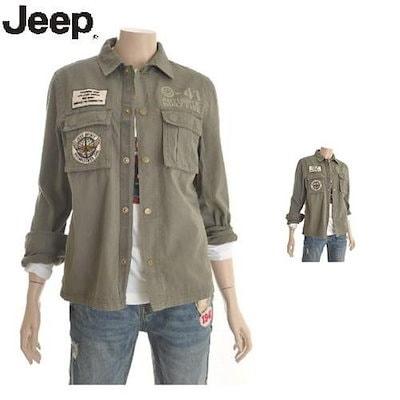 JEEP[AK公式ストア][ジープ] [ジープ]ユニセックスミリタリースタンダード3Dポケットシャツ(JH1SHU204)