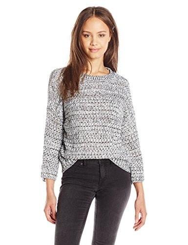 Volcom Juniors Something Good Crewneck Sweater, Black, Large