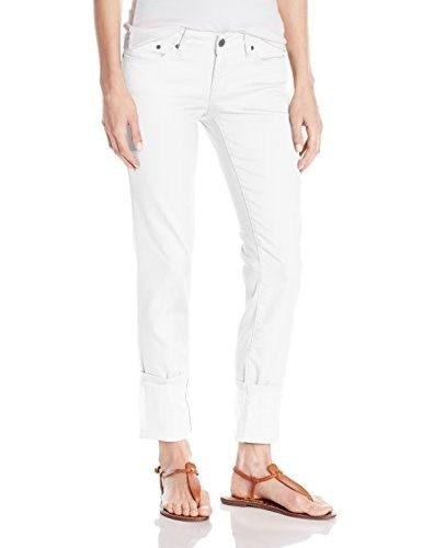 prAna Womens Kara Jean Pant, White, Size 6