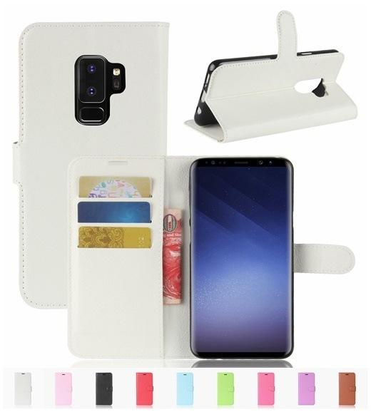 ギャラクシー GalaxyS9Plus/Galaxy S9+用レザーケース/カード収納付き/手帳型/ポケット付き/Galaxy S9+財布型保護カバー/マグネット横開き/スタンドカバー2つ折りI055
