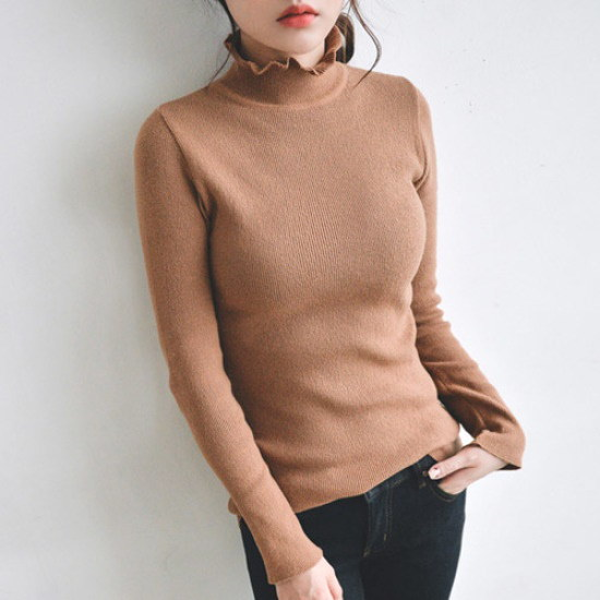 ジャストウォンナエルゴルジポルラニトゥ ニット/セーター/タートルネック/ポーラーニット/韓国ファッション