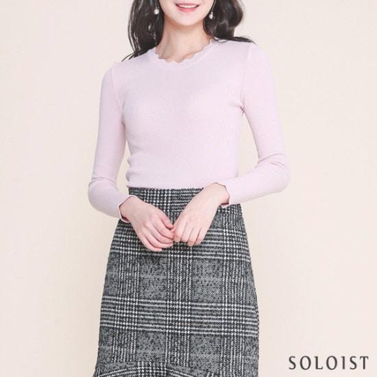 ソロイストウェーブラインリップスリムニットSADI1A02 ニット/セーター/ニット/韓国ファッション
