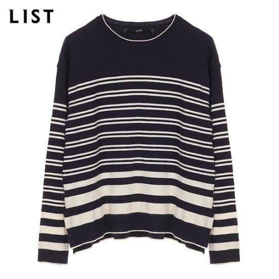 [リスト]リストサイドスリットストライププルオーバー_TSKPOH50040_NA ニット/セーター/ニット/韓国ファッション