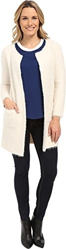 Sanctuary Clothing Womens Super Soft City Coat, Winter White, X-Small