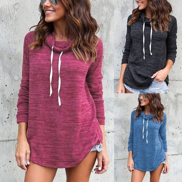Casual Loose Long Sleeve Round Collar Ladies Sweatershirt Women Fashion All-match Autumn and Winter