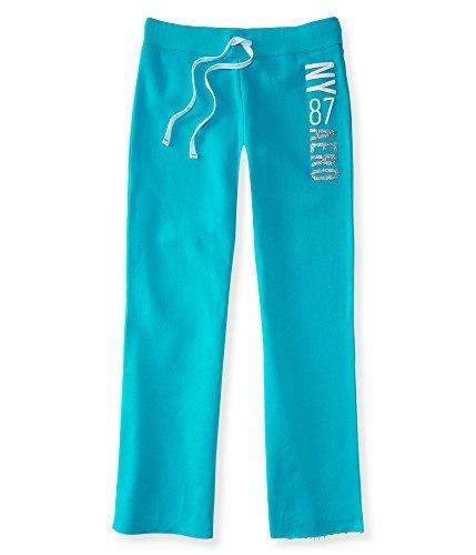Aeropostale NY 87 Aero Classic Fit Sweatpants (S, Aqua 7508)