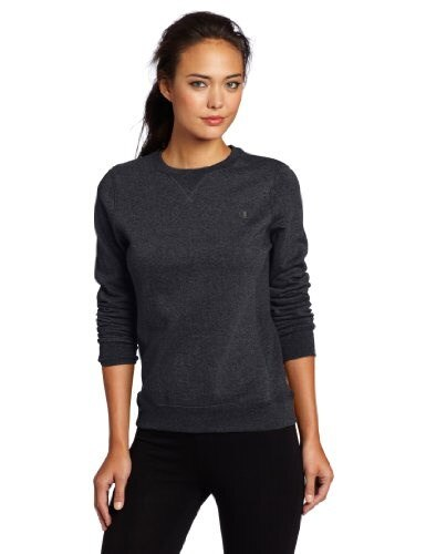 Champion Womens Pullover Eco Fleece Sweatshirt, Granite Heather, Large