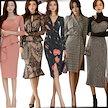 「 01/13 新作追加 Special Offer」♥高品質♥韓国ファッション♥OL、正式な場合、礼装ドレス♥セクシーなワンピース、一字肩♥二点セット、側開、深いVネック♥やせて見える、ハイウエ